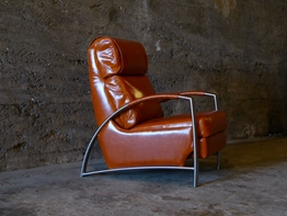Cognac reclining chair