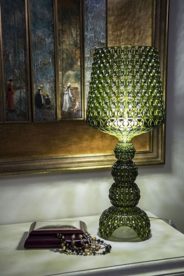 Smallmini -kabuki -kartell -table -lamp -in -transparent -technopolymer -in -green -colour