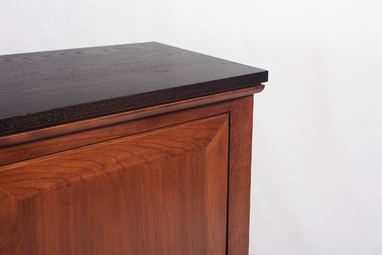 Sideboard with angled sides