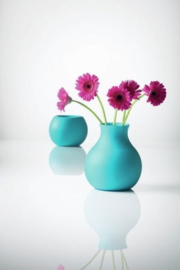 Rubber vases